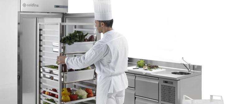 Coldline-indkørings-køleskab